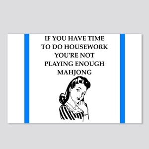 housework joke Postcards (Package of 8)